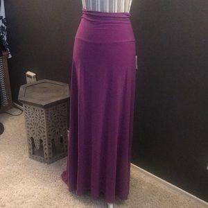 LuLaRoe Maxi skirt purple